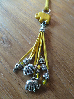 #elephant#long necklace#yellow#kids#
