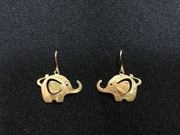 #earrings#elephant#elefant#goldplated#tinarts#bangkokarts