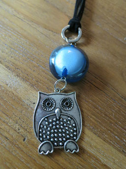 #longnecklace#owl#black#blue#