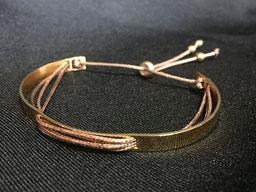 #bracelet#brown#goldplated#tinarts