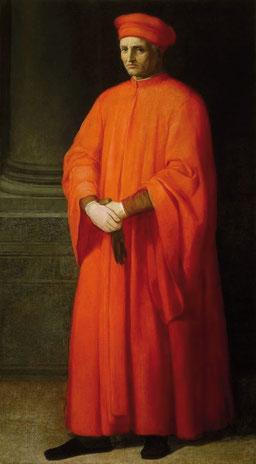 Le riche marchand-banquier toscan Francesco di Marco Datini (1335-1410). Palazzo Datini, Prato (Toscane)
