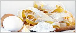 Zum rezept für hausgemachte Pasta