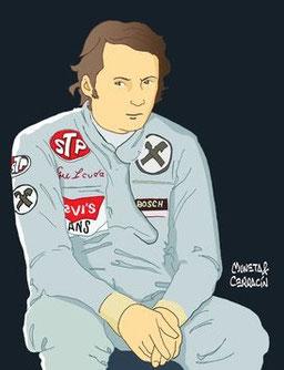 Ronnie Peterson & Niki Lauda by Muneta & Cerracín