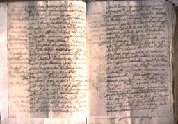 """E' un documento del notaio del duca di Parma in cui si definiva """"Parmigiano"""" il formaggio prodotto e stagionato a Parma.(Archivio di Stato di Parma)"""