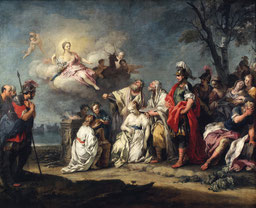 Jacopo Amigoni, Le sacrifice d'Iphigénie, vers 1740, huile sur toile, collection musée des beaux-arts de Brest métropole.