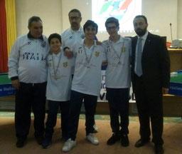 Il Messina Juniores formato da Riccardo Natoli, Roberto Manzella e Alessandro Natoli