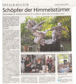 Artikel zum Offenen Atelier 2014