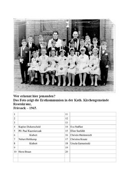 Erstkommunion in Friesack 1965
