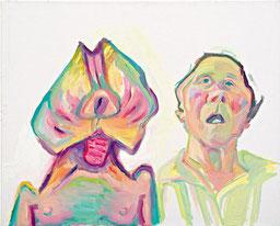 Maria Lassnig Zwei Arten zu sein (Doppelselbstporträt), 2000 Öl auf Leinwand, 100 x 125 cm Maria Lassnig Stiftung © Maria Lassnig Stiftung