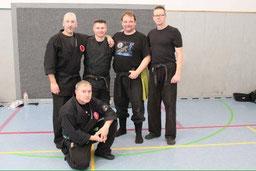 v.l. Stefan Gudegast, Dean Rostohar, Carsten Fischer, Ulrich Brömmelhaus, vorne Jürgen Fiehland.