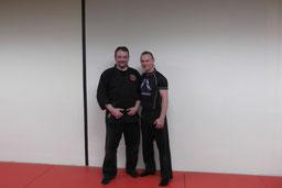 Carsten mit Rob Renner nach dem Training