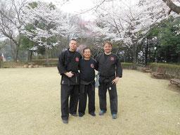 Nach dem Training mit Shiraishi sensei in Shimizu-Kouen