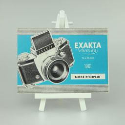 Gebrauchsanleitung Exakta Varex IIa 1961 F-Version  ©  engel-art.ch