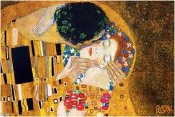 Le Baiser (détail), Gustav Klimt