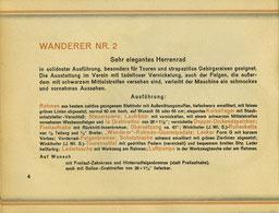Wanderer Nr. 2, Katalog-Beschreibung von 1928