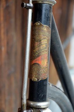 Jagdrad Modell 1908, Lenkkopfschild