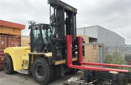 used big forklift Hyster H25XMS-9 port of Hamburg