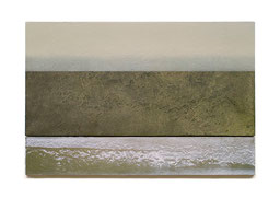 Scaletta II  2011   Kunstharz, Pigment, Steinmehl, Ölfarbe auf Gips / auf Holz  2 Teile  30 x 50 cm / 9 x 50 cm
