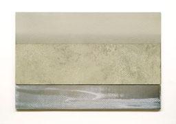 Scaletta V  2011   Kunstharz, Pigment, Steinmehl, Ölfarbe auf Gips / auf Holz  2 Teile 30 x 50 cm / 9 x 50 cm