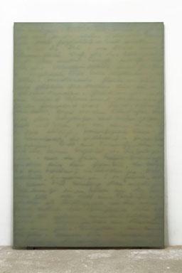 Nachklang 2002  Kunstharz, Steinmehl, Ölfarbe auf Leinwand  210 x 140 cm