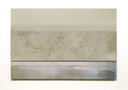 Scaletta VI  2011  Kunstharz, Pigment, Steinmehl, Ölfarbe auf Gips / auf Holz  2 Teile 30 x 50 cm / 9 x 50 cm