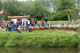Paddeln  mit Boote von Yeti