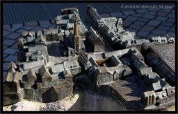 Modell der Stadt Hameln in der Fußgängerzone