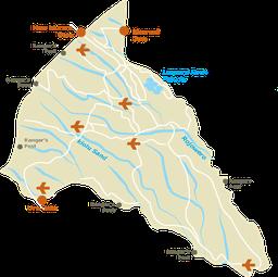 Parco Nazionale Meru - Mappa