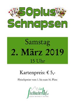 Plakat 50er Preisschnapsen 2018