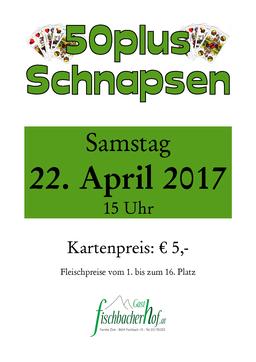 Plakat 50er Preisschnapsen