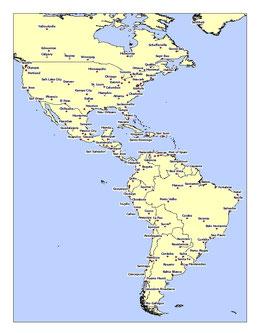 CIUDADES DE AMÉRICA