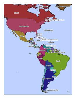 Shapefiles p de amrica geografa sig y estudios ambientales paises de amrica gumiabroncs Choice Image