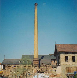 Fabrik während des Abrisses  - Archiv Peter Fuhrmann