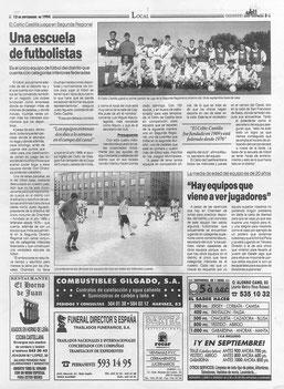 Artículo Periódico Chamberí 13 Sept. 1994