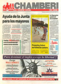 Portada Periódico Chamberí 13 Sept. 1994
