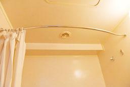 バスルーム ラウンド型カーテンパイプ ホテルグランドサン横浜