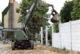 30 Jahre Mauerfall- Abrissarbeiten Kiefholzstrasse Treptow
