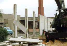 30 Jahre Mauerfall-Abrissarbeiten Kiefholzstrasse Treptow