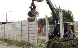 30 Jahre Mauerfall-Kiefholzstrasse Mauerabriss Treptow