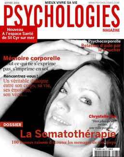 """Petit clein d'oeil, pour fêter mon installation je me suis offerte la """"Une"""" de Psychologies Magazine !"""