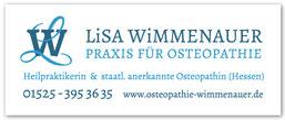 Lisa Wimmenauer, Heilpraktikerin und staatl. anerkannte Osteopatin (Hessen)