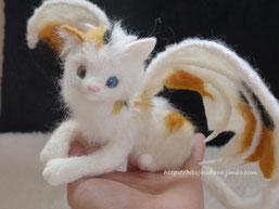 羊毛フェルト ねこ 猫 ドラゴン
