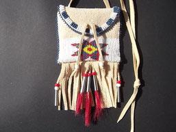 Indianer Brustbeutel mit Sioux Stern