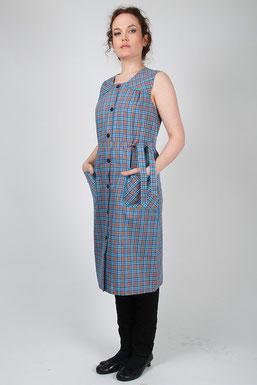 blouse écossaise sans manches Malaga