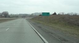auf der US-60 nach Mansfield ...