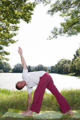 Yoga Asanas Dreieck Trikonasana