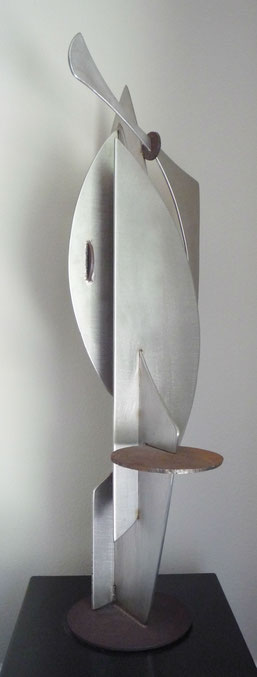 grant irish stainless steel and steel sculpture