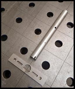 Lasergesneden as met basisplaat