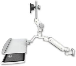 業務用モニターアーム ウォールチャネルマウント  昇降式 ディスプレイキーボード用アーム:ASUL180P-W5-KUP