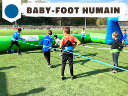 Location baby-foot humain gonflable géant Annecy